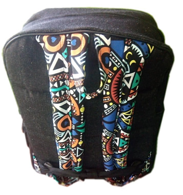 Ankara Lined Laptop Bag