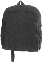 Padded denim laptop bag