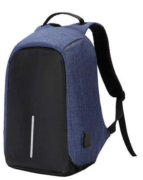 Anti Theft Design Backpacks Navy Blue