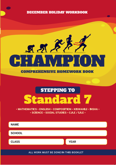 Stepping to Std 7 Champion Homework Book Std6 December