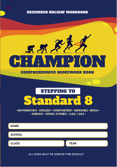 Stepping to Std8 Champion Homework  Std7 December