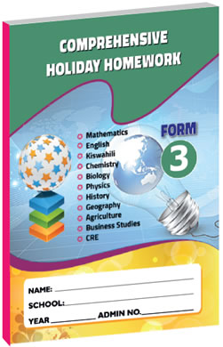 Comprehensive Holiday Homework Form 3