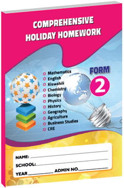 Comprehensive Holiday Homework Form 2