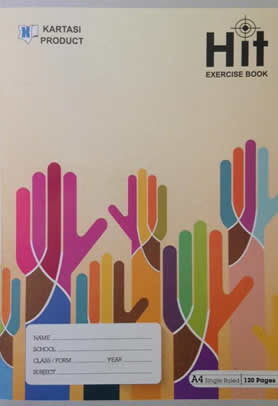 Exercise Book Kartasi 2018 New A4 Squared 120 pages