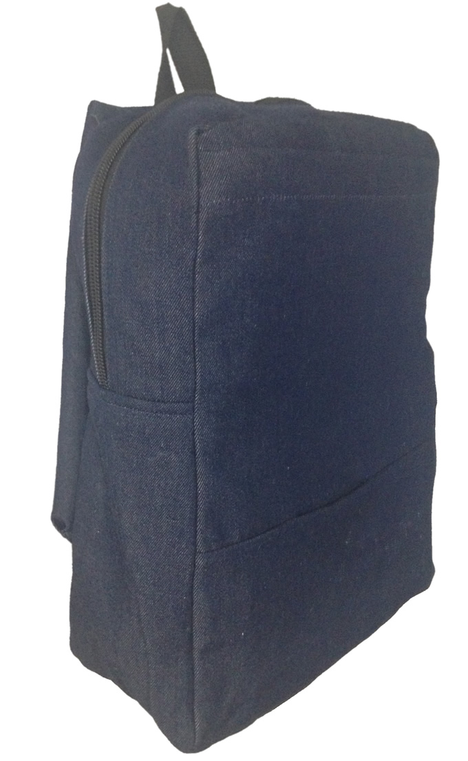 Navy Blue Denim Bag Small