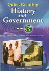 Quick Reading History & Government Form 3