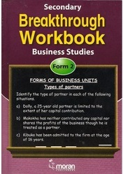 Secondary Breakthrough Business Studies  Form 2
