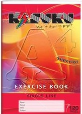 Exercise Book Kasuku A4 Ruled 120 pages