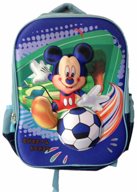 Blue Mickey mouse 3D bag