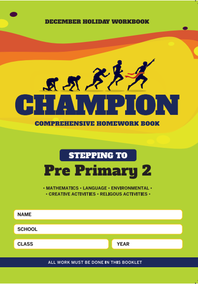 Stepping to  PP2 Champion Homework Book PP1 December