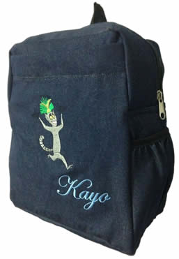King Julian Denim Bag with name print