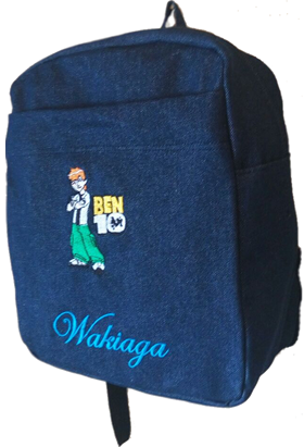 Ben 10 Denim Bag with name print
