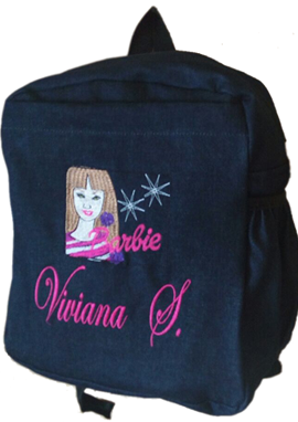 Barbie Denim Bag with name print