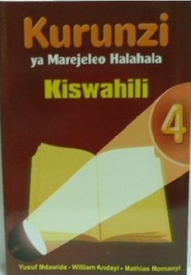 Kurunzi Ya Marejeleo Halahala Darasa La 4