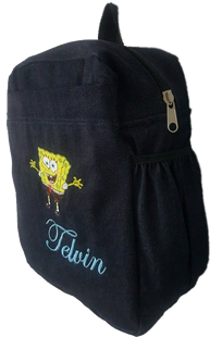 Sponge Bob Denim Bag with name print