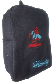 Spiderman Denim Bag with name print