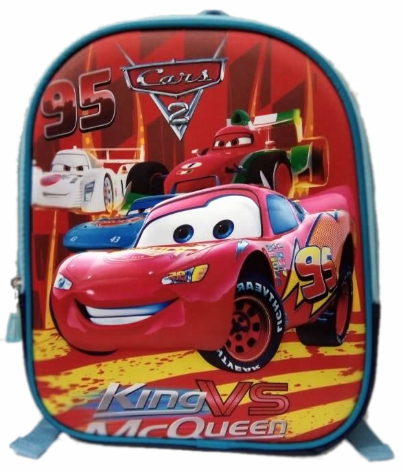 Lightning Mcqueen 3D backpack for preschool