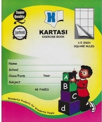 Exercise Book Kartasi A5 Squared 48 Pages A5