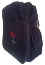 Boarding school bag with rose flower