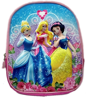 Princess 3D backpack for preschool kids.