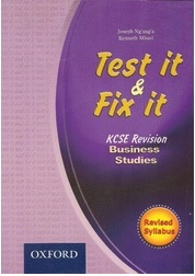 Test It And Fix It KCSE Revision Business Studies