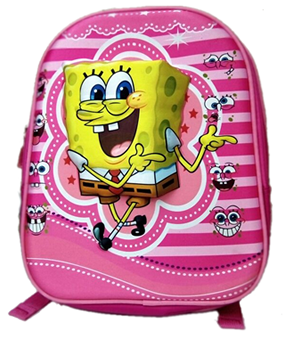Spongebob 3D backpack for preschool