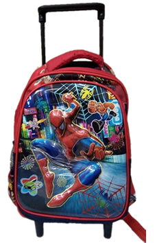Spiderman 3D trolley for preschool