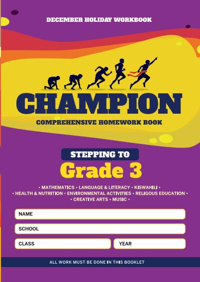 Stepping to Grade3 Champion Homework Book Grade2 December