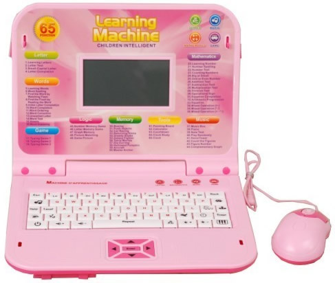 Pink Kids laptop Learning machine