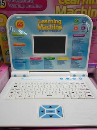 Blue Kids laptop Learning machine