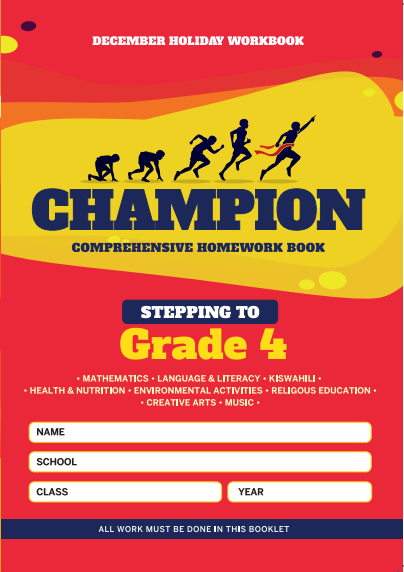 Stepping to Grade4 Champion Homework Book Grade3 December