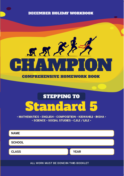 Stepping to Std 5 Champion Homework Book Grade4 December