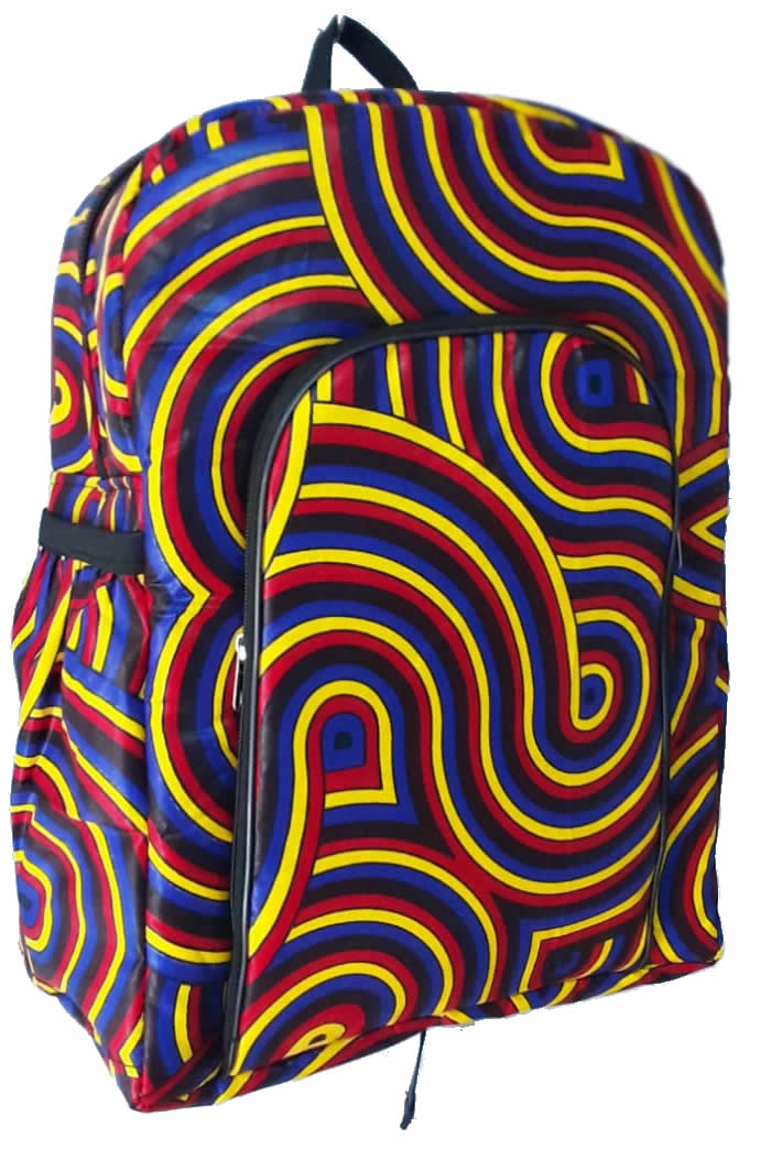 Tafsiri Collection College Bags Spiral ankara Print