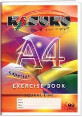 Exercise Book Kasuku A4 Squared 80 pages