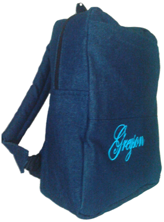 Light Blue Denim bag with name print
