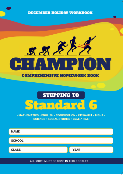 Stepping to Std 6 Champion Homework Book Std5 December