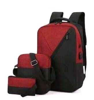 Backpack 3in1 Maroon Black Type C