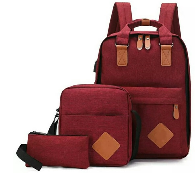 Backpack 3in1 Maroon Type E