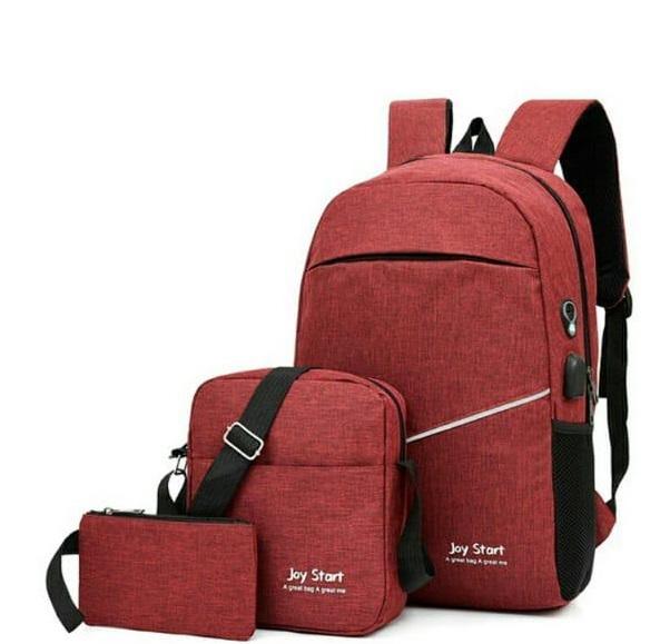 Backpack 3in1 Maroon Type D