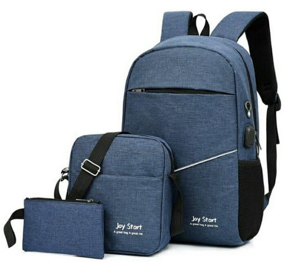 Backpack 3in1 Navy Blue Type D
