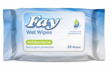 Wet Wipes Antibacterial Fay
