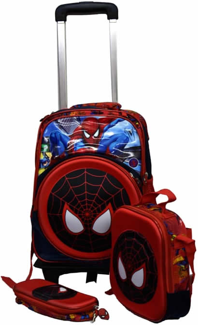 Spider man 3in1 Detachable Trolley Bag