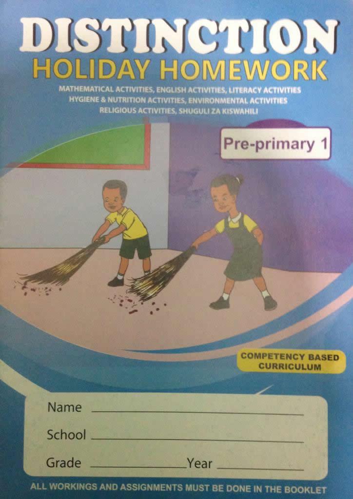 Distinction Holiday Homework Pp1
