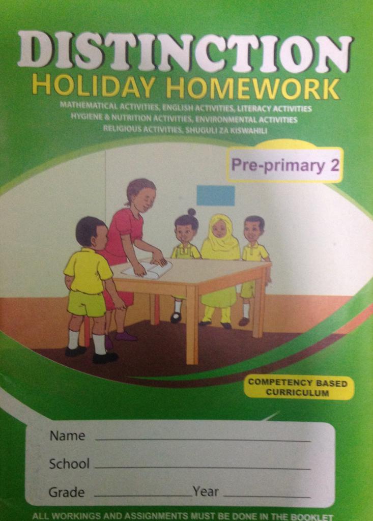 Distinction Holiday Homework Pp2