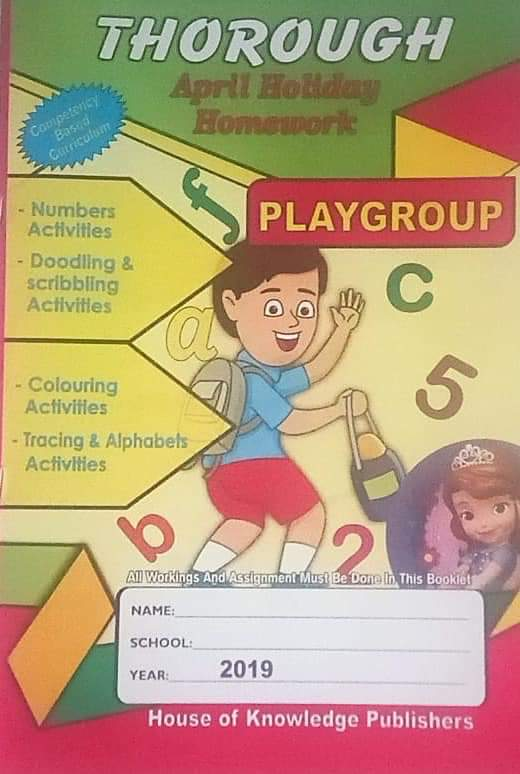 Thorough April Holiday homework book