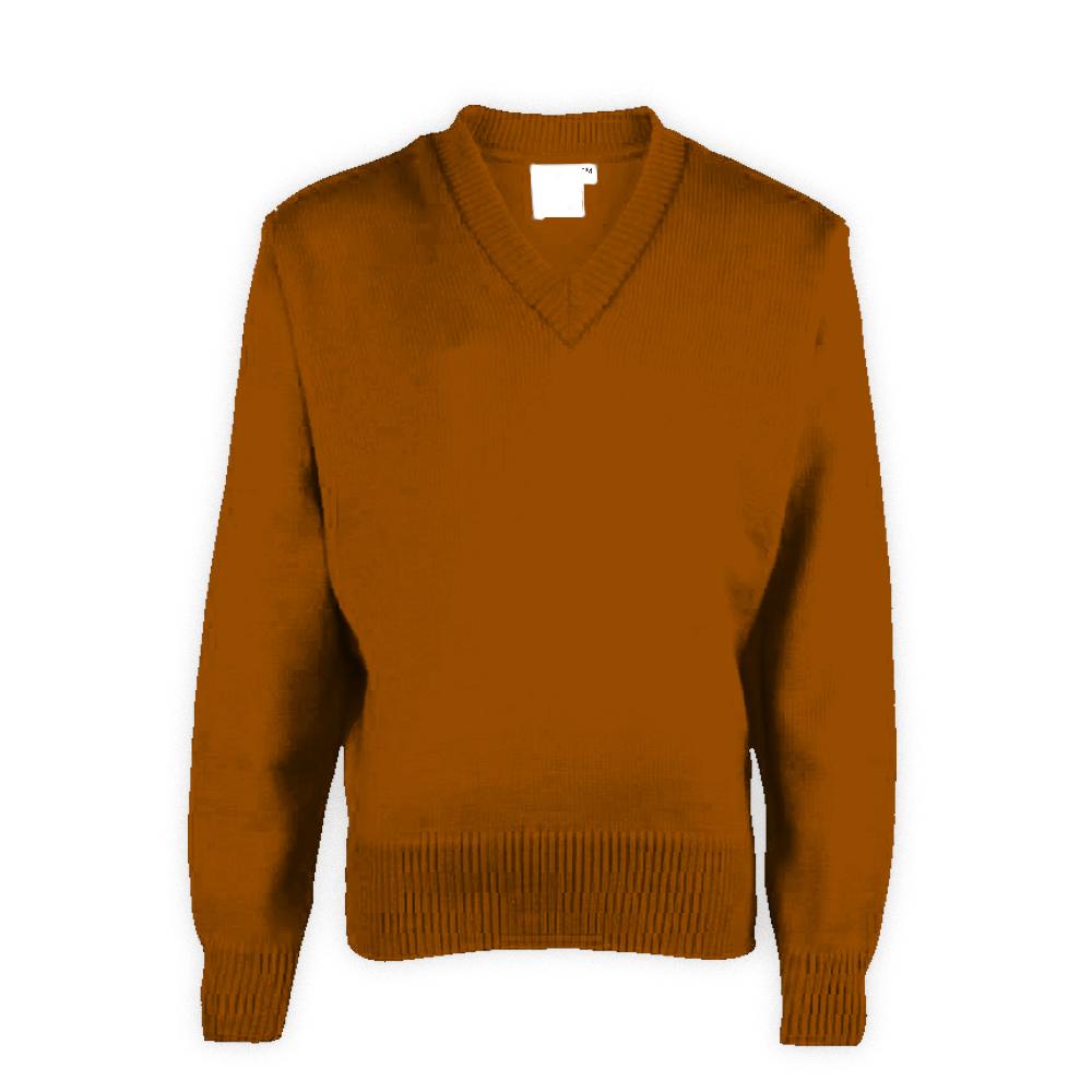 Brown Plain School Sweaters
