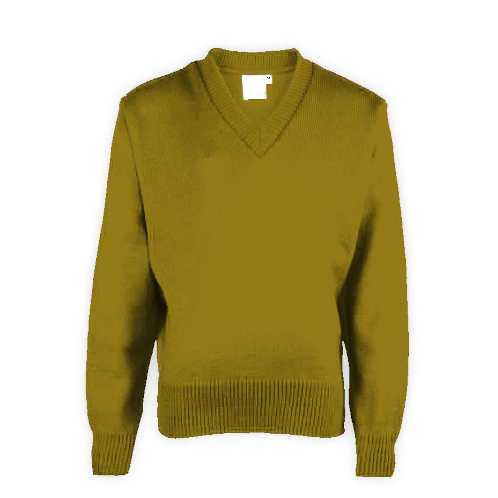 Light Green Plain School Sweaters
