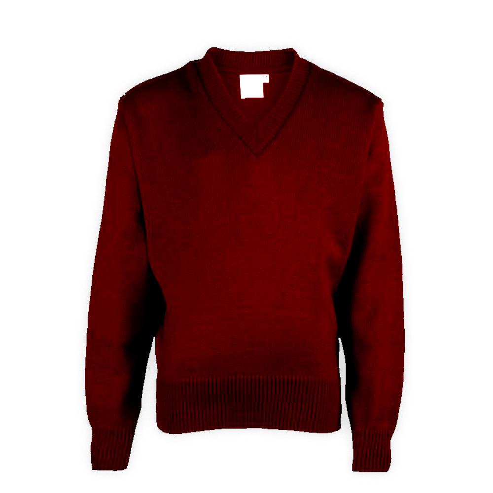 Maroon Plain School Sweaters