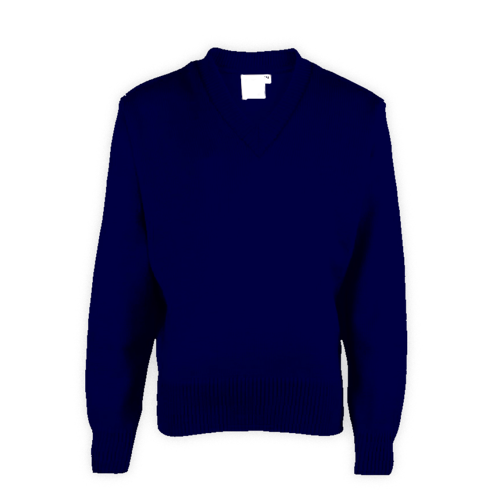 Navy Blue Plain School Sweater