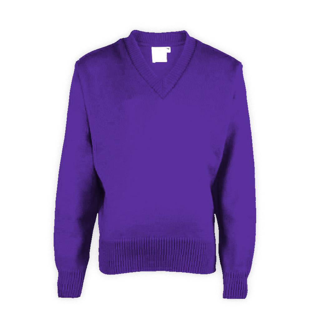 Purple Plain School Sweaters